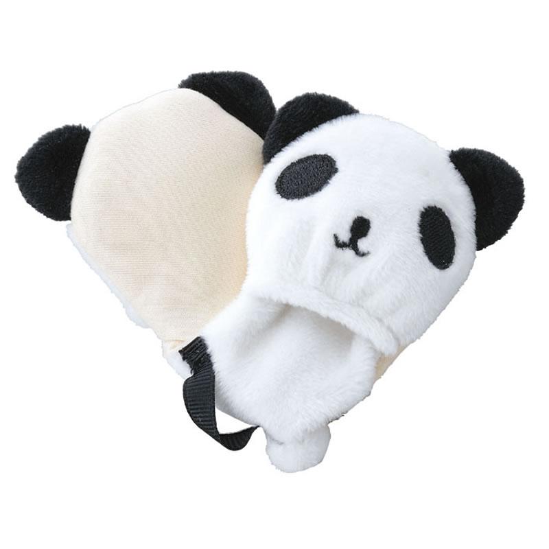【超極細繊維使用】2頭のパンダがメガネをキレイにしてくれるマイクロファイバーのフィンガークロス I-62「パンダフィンガークロス」